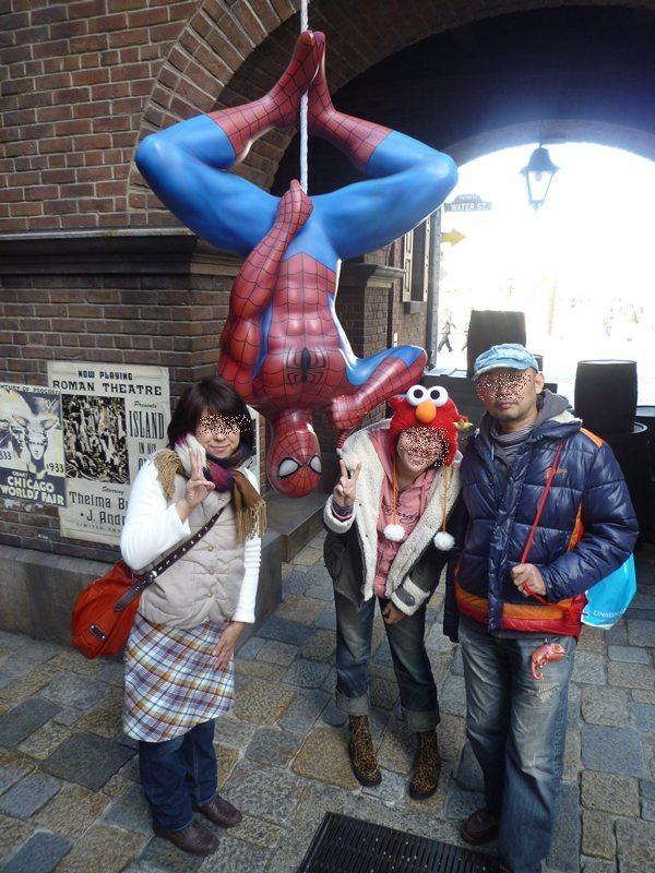 スパイダーマンとパチリ☆