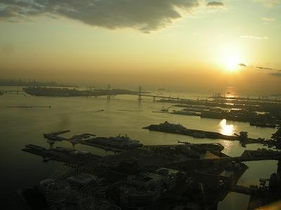 朝日が見えます