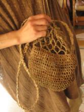 04カラムシの手編みバッグ