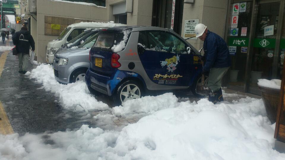 20140215雪かき2別館前