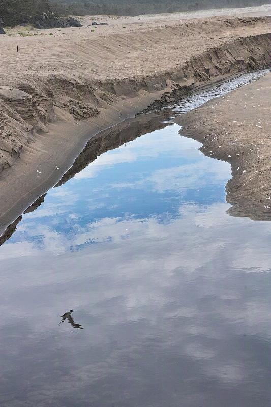 水に映る空