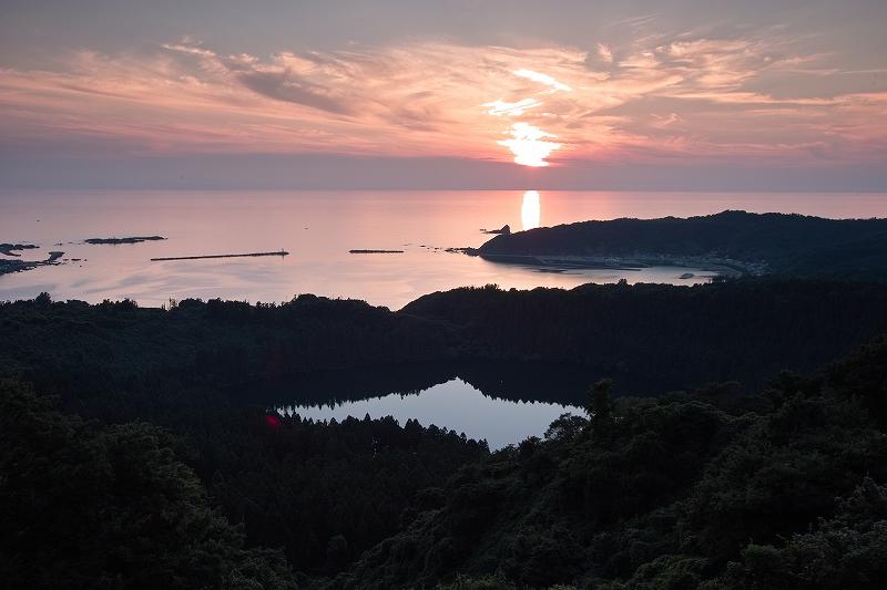 日本海落日