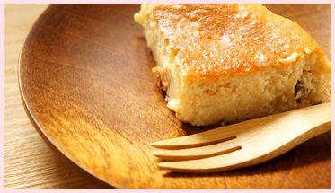 樺の器と酒粕ケーキ