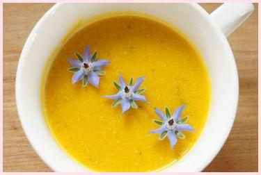 冷たいかぼちゃのスープ120626