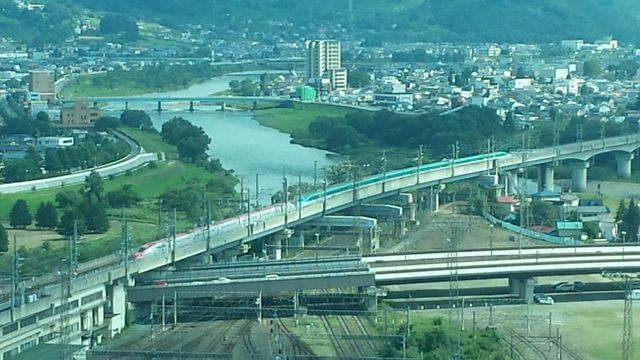 盛岡駅遠景 - 鉄道と航空の観察記録