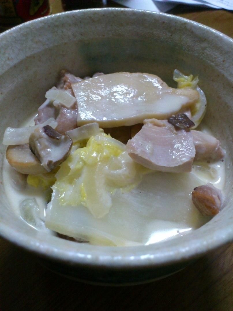 鶏肉と白菜の白ワイン蒸し