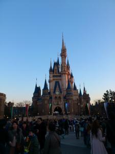 夕暮れのお城