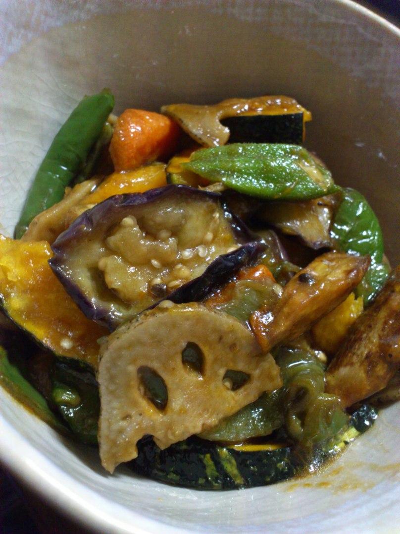 野菜の黒酢あん②