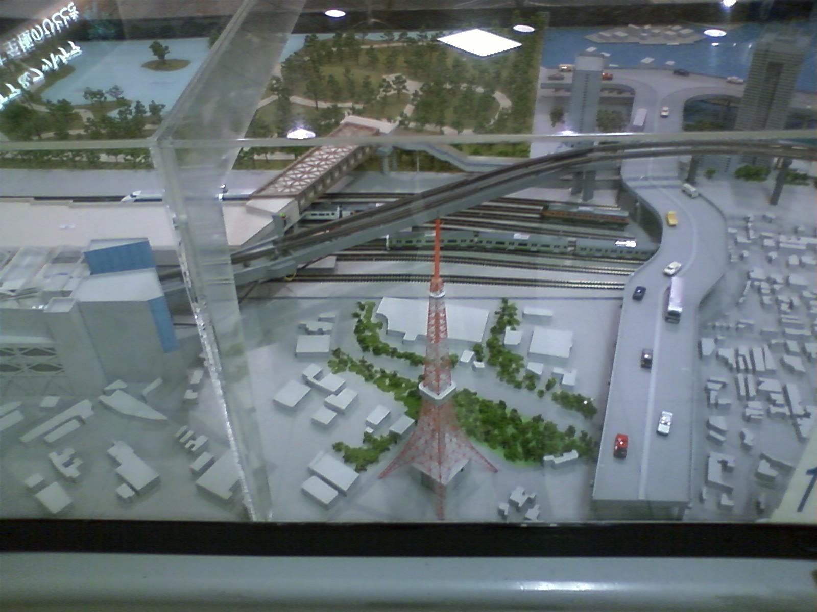 東京モノレールの模型。動かしてみたかったけれど、自重。。。