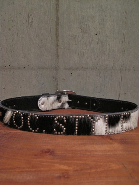O.C Style HAIR ON HIDE LEATHER BELT