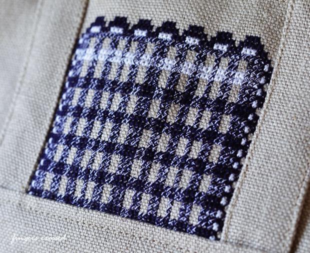 8号リネン帆布のトートバッグ4