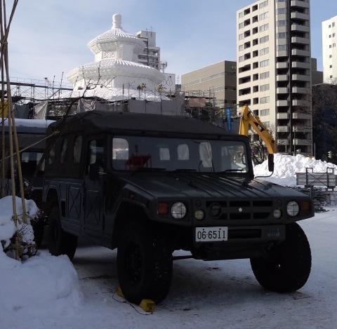 自衛隊と雪