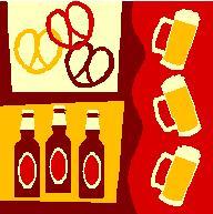 ビール&プレッツェル茶系
