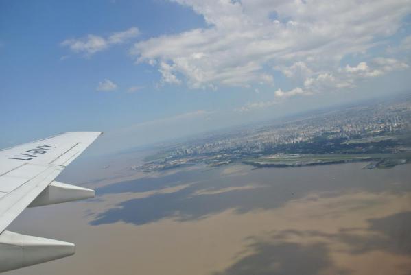 ブエノスアイレス上空から