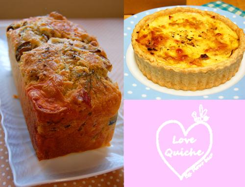 cakesale&quiche