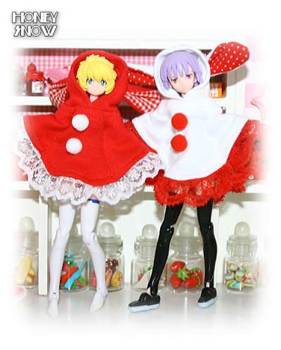 1/12DOLL【フードポンチョ】 クリスマスver