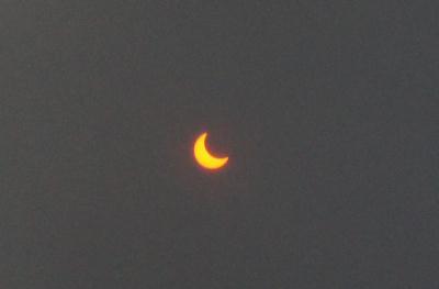 南千住から金環日食 2012年5月21日