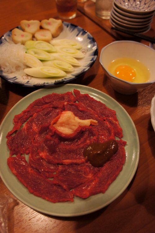 桜なべのコース=桜鍋
