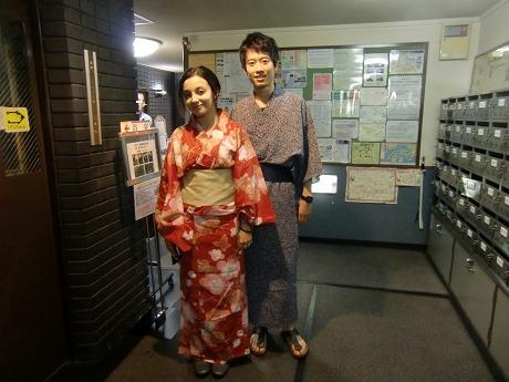 隅田川花火を見に行く宿泊客