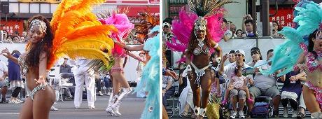 サンバカーニバルの黒人ダンサー