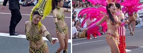 サンバカーニバルの日本人ダンサー