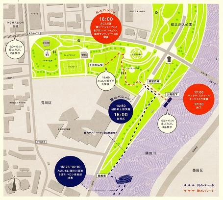 「隅田川夕日見」のイベント案内地図