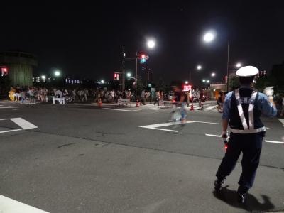 南千住・汐入公園から隅田川花火大会