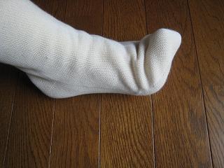 4枚履いた足