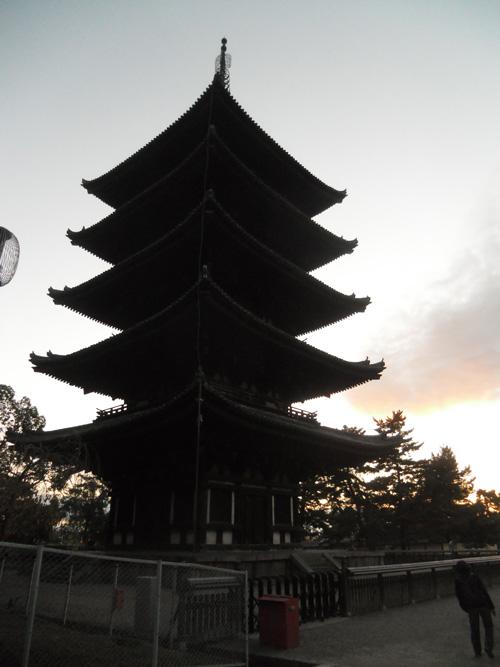 興福寺の、五重塔。