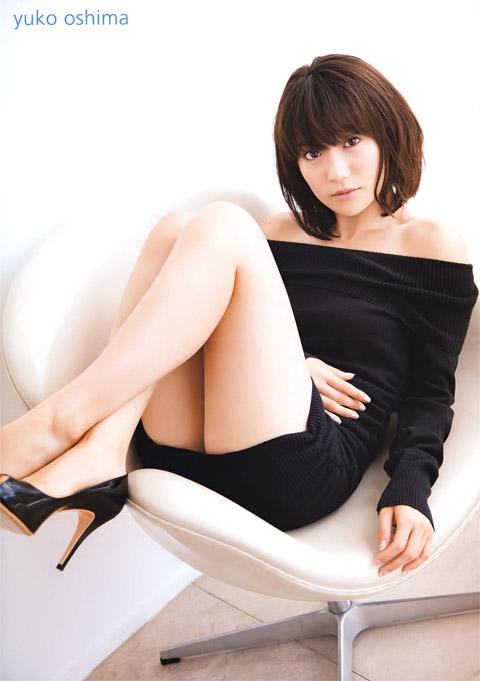 大島優子のニットワンピ画像