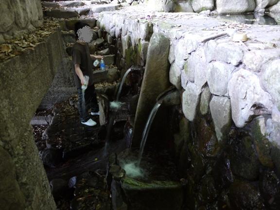 上に溜めてる水がそのまま流れ出てる・・・のか?汗 その割にキレイな水だったけど。