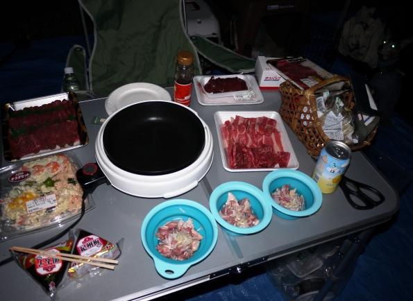 余った食材は、管理人さんに預け 翌日まで冷蔵庫に保管して頂きました