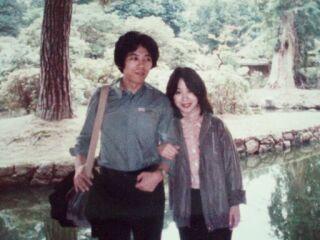 2010直美・銀閣寺にて