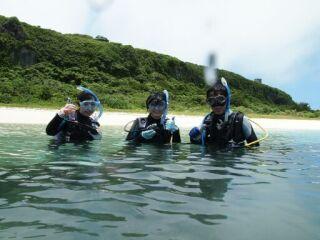 20120608体験ダイビング3人