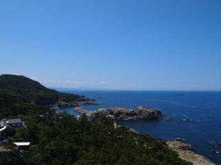 20120803日御碕灯台より大田方面を眺める