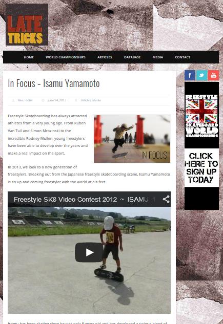 late tricks in focus-Isamu Yamamoto