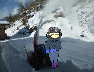 除雪機活躍
