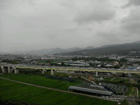 蔵王からの山形市街