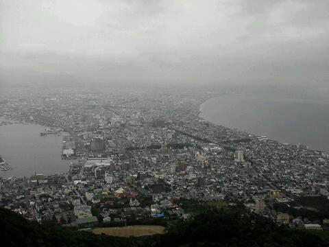 函館山眺め 微妙