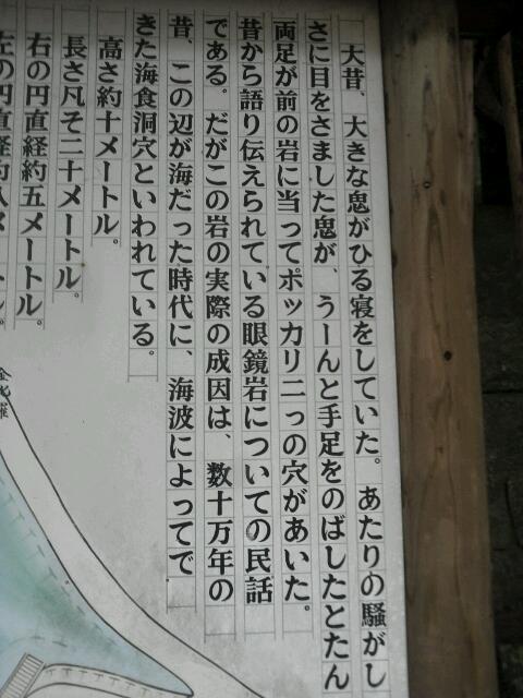 眼鏡岩 説明