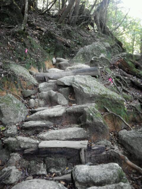 江戸時代の石垣階段