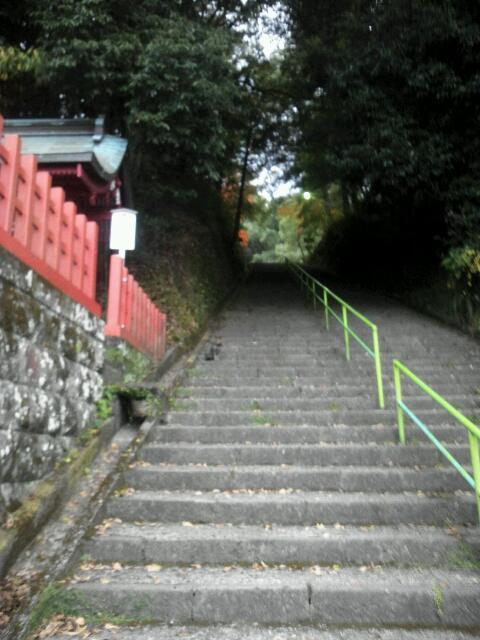 新田神社 階段