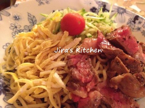 ステーキ冷麺