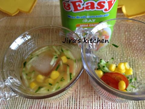 サラダ味噌スープ