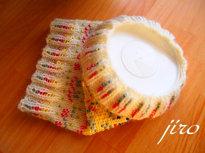 ポットドレス(鉢かばー)-輪針(シェットランド柄).8