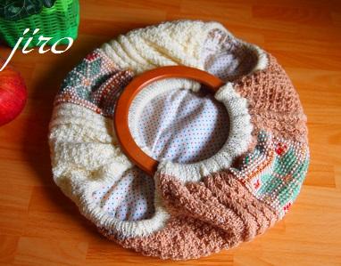 ビーズ編みバッグ-棒針…ツートングラニー.9
