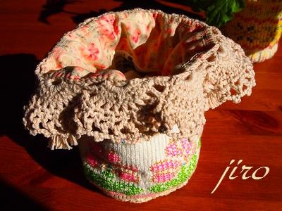 ビーズ編みバッグ-ラトビアミトン模様の巾着6