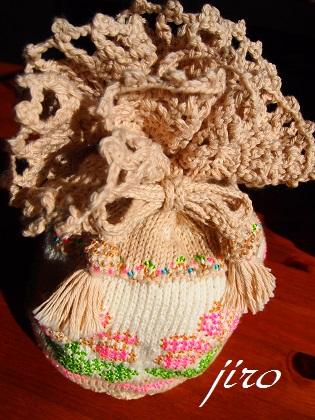 ビーズ編みバッグ-ラトビアミトン模様の巾着7
