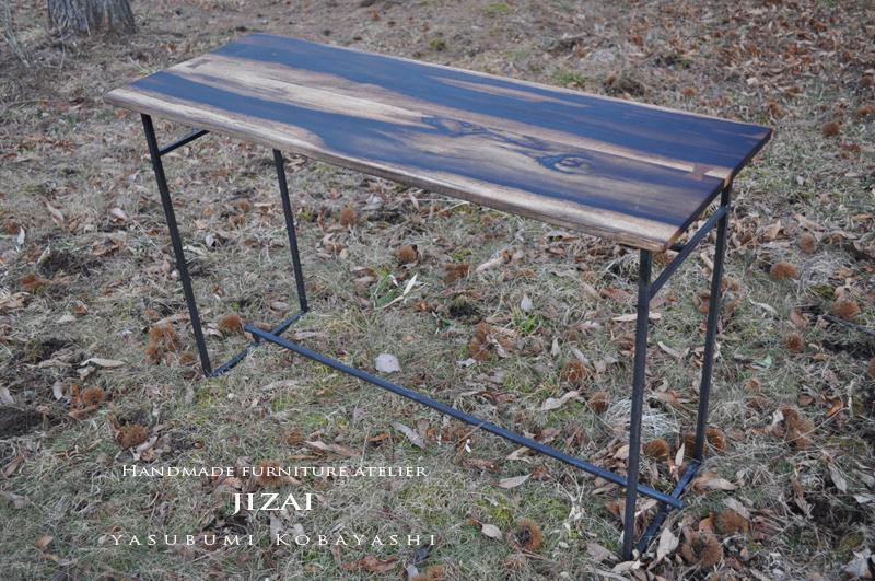 鉄脚黒柿天板TABLE