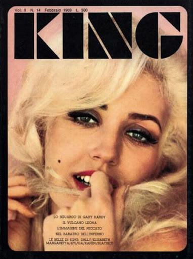 king italian magazine cover 60s